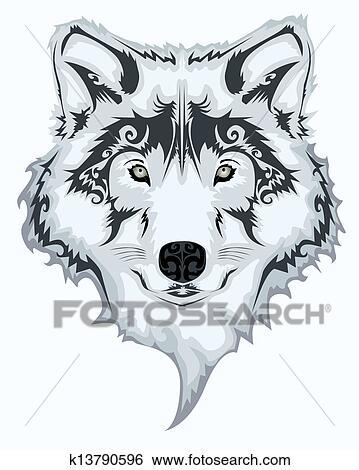 素描画狼的步骤