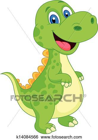 Clipart mignon dinosaure dessin anim k14084566 - Dinosaure dessin anime disney ...
