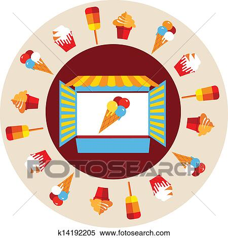 Ice cream shop Clip Art Illustrations. 2,770 ice cream shop ...