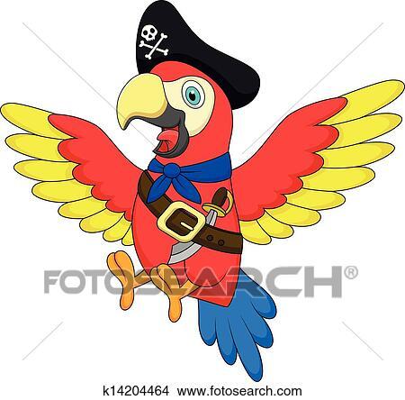 海盗和鹦鹉_剪贴画 - 漂亮, 鹦鹉, 海盗, 卡通漫画