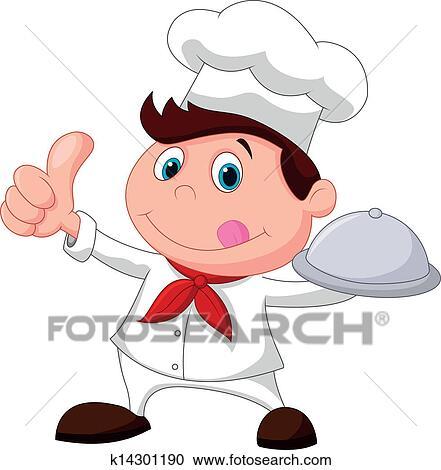 Clipart chef caricatura tenencia un metal alimento for Herramientas de un cocinero