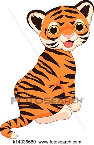 Clipart of Cute tiger ...