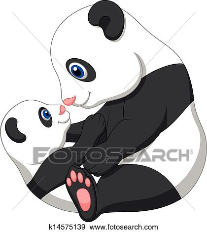 手绘熊猫卡通图片-5