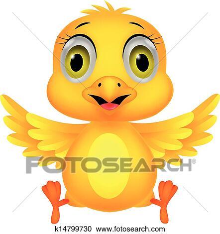 剪贴画 - 漂亮, 婴儿小鸡