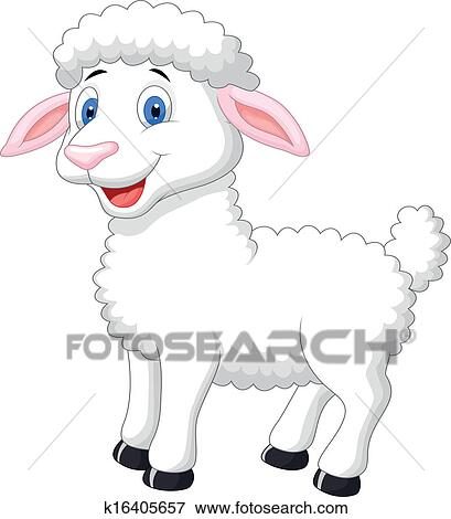 Clipart mignon mouton dessin anim k16405657 - Image mouton dessin ...