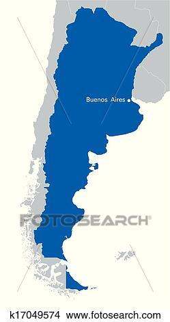 - 蓝色, 地图