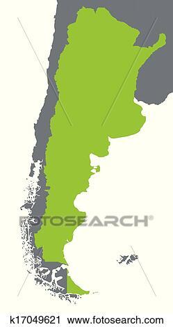 绿色的地图,