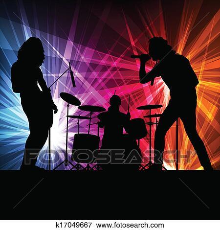 摇滚乐队, 矢量, 背景;图片