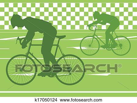 手绘图 - 运动, 道路自行车