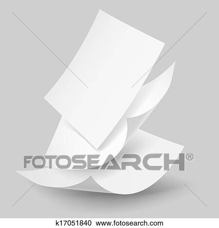 Clipart of Falling paper sheets. k17051840 - Search Clip Art ...