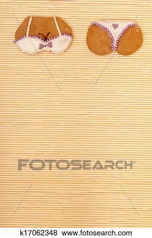 黄色-照片,粉红色,比基尼,形状,gingerbread开阔视野因为读书高雅我们情趣使图片