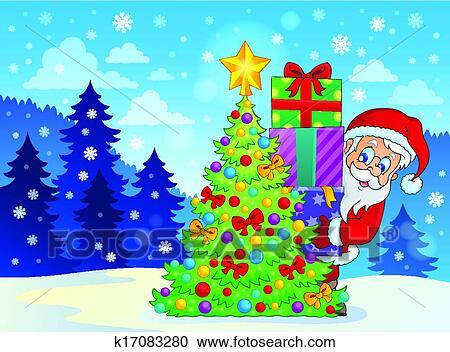 剪贴画 - 圣诞老人, 主题