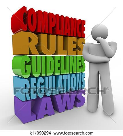 Drawings of compliance rules thinker guidelines legal - Qualifications for compliance officer ...