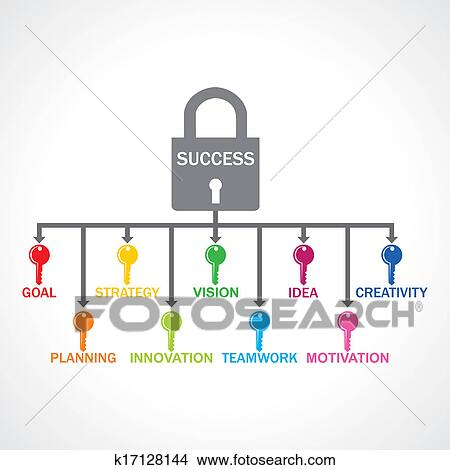 Clipart of Different keys for success lock k17128144 - Search Clip ...