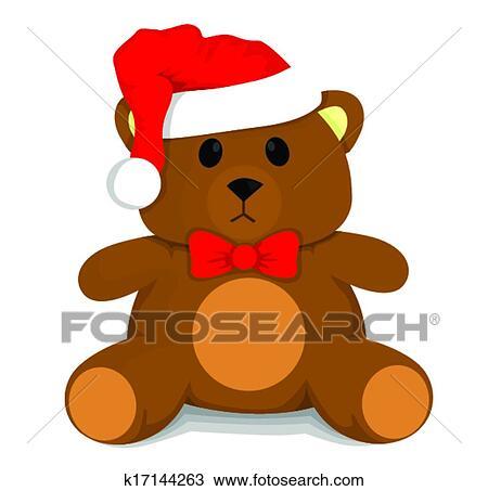 手绘图 - 圣诞节, 玩具熊