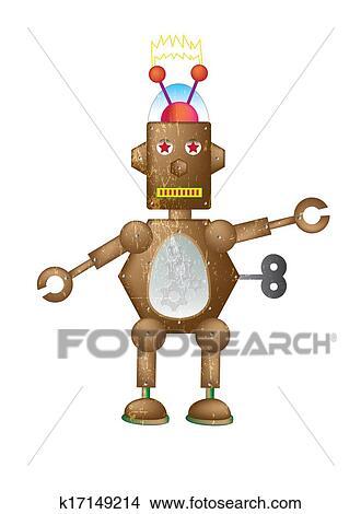 绘画/图画 - 布朗, 机器人 k17149214 - 搜寻 clip