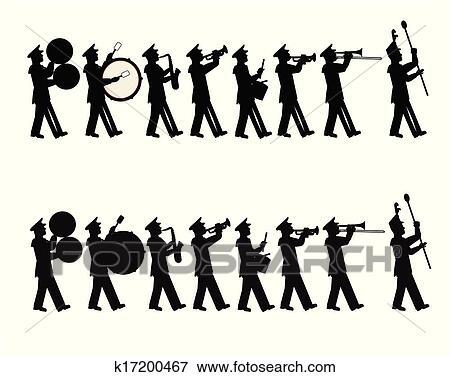 Clip Art Marching Band Clipart marching band clip art and illustration 461 clipart parade band