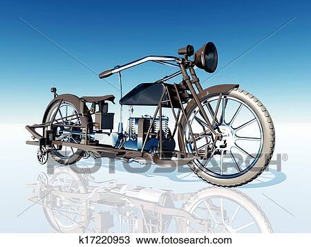 手绘图 - 第一流, 摩托车