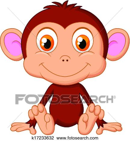 Cute Baby Monkey Drawing Clipart Cute Baby Monkey