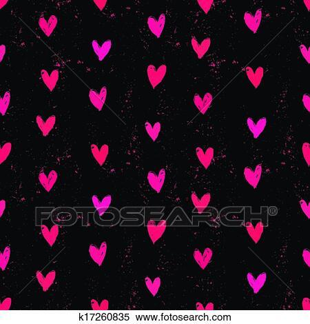 Clipart velentine 39 s dag motieven met hand geverfde hearts k17260835 zoek clipart - Ongewoon behang ...