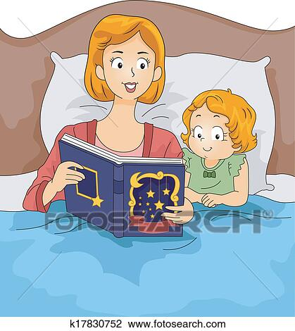 clipart of bedtime story k17830752 search clip art