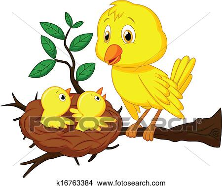 clipart of mother and baby bird cartoon k16763384 search clip art rh fotosearch com baby blue bird clipart mom and baby bird clipart