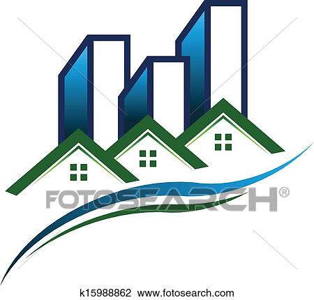 clipart of real estate community logo vector k15988862 search clip rh fotosearch com real estate clipart real estate clipart images free