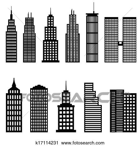 Tall Building Drawing