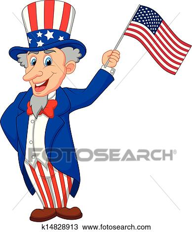 clipart of uncle sam cartoon holding american k14828913 search rh fotosearch com uncle sam clip art images uncle sam clip art black and white