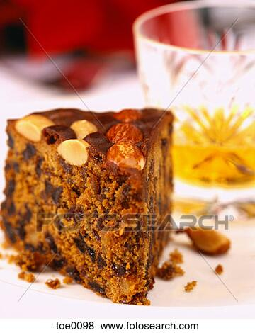 Dundee Cake Clip Art : Pictures of Slice of Dundee Cake toe0098 - Search Stock ...
