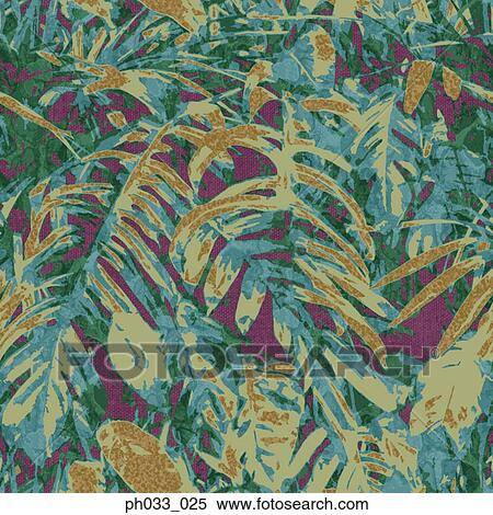 Stock image of jungle camouflage design vector file ph033 for Camouflage mural