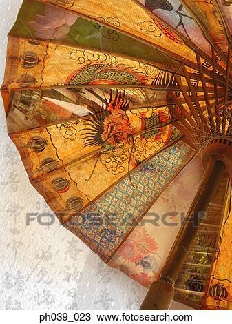 Banque de photo parapluie dragon chinois impression - Photo de dragon chinois ...