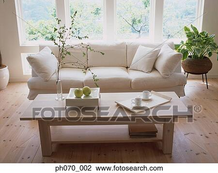 Stock photo of sofa set in the living room ph070 002 for The living room 002