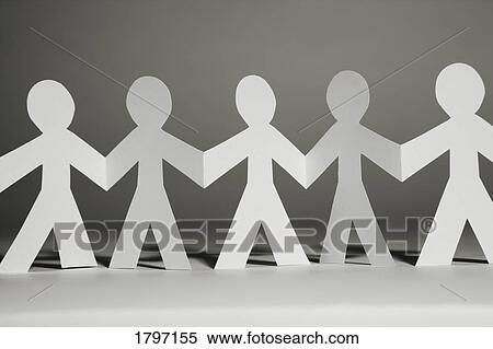 Stock Image of Paper cut-outs of people 1797155Search Stock