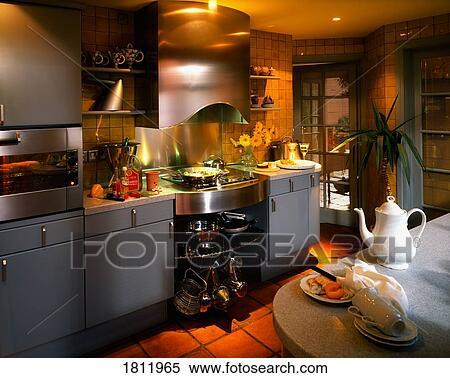 Archivio Immagini Interno Di Uno Cucina 1811965