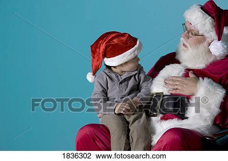 Colecci n de foto ni o peque o en santa regazo - Foto nino pequeno ...