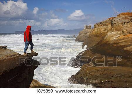 Clip Art Person Standing On the Edge of a Cliff