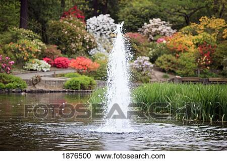 Stock photography of portland oregon united states of for Garden fountains portland oregon