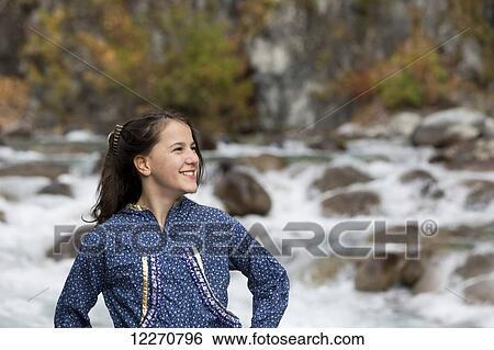 Alaska Young Native Girl Stock Photos &amp- Alaska Young Native Girl ...