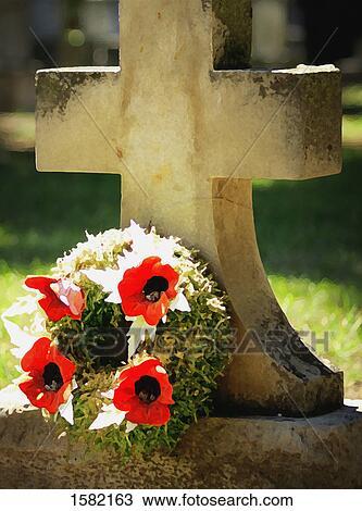 banque de photo a pierre tombale fleurs 1582163 recherchez des images des. Black Bedroom Furniture Sets. Home Design Ideas