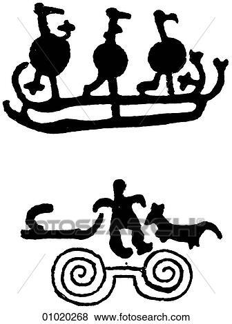 Stock Illustration of Signs & Symbols - line art Scandinavia ...