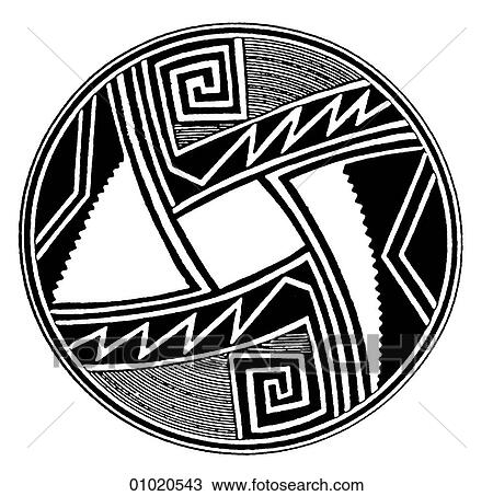 Drawing Of Signs Symbols Line Art The Americas Decoration On