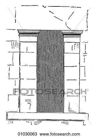 Drawing Of Architecture Ancient Greece Line Art Detail Classical