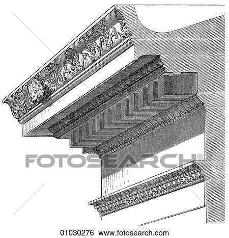 Stock Illustration Of Architecture Ancient Greece Line Art Detail
