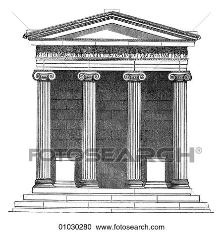 Stock Illustrations Of Architecture Ancient Greece Line Art Dd3