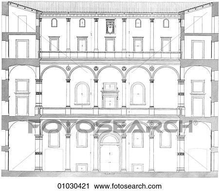 Clipart architecture italie rev tir art q3 for Architecte italien contemporain