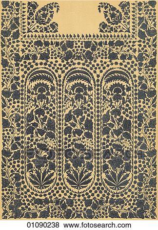 banque d 39 illustrations motifs motifs inde color indien tissu brod dacca. Black Bedroom Furniture Sets. Home Design Ideas
