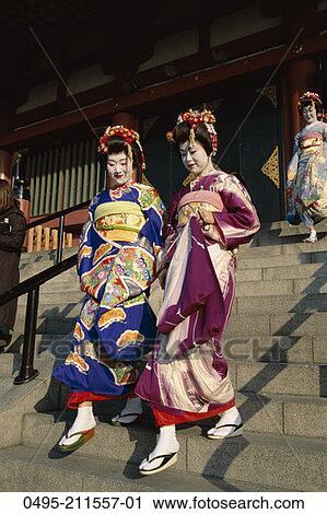 Stock fotografie japan kyoto honshu lehrling geisha for Traditionelles japan