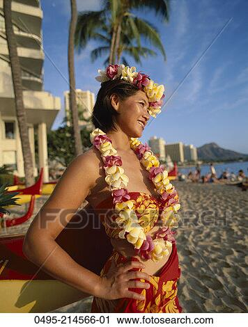 Hawaiian Leis Clip Art Head