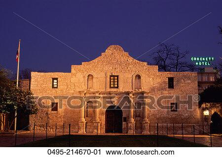 stock photography alamo at night fotosearch search stock